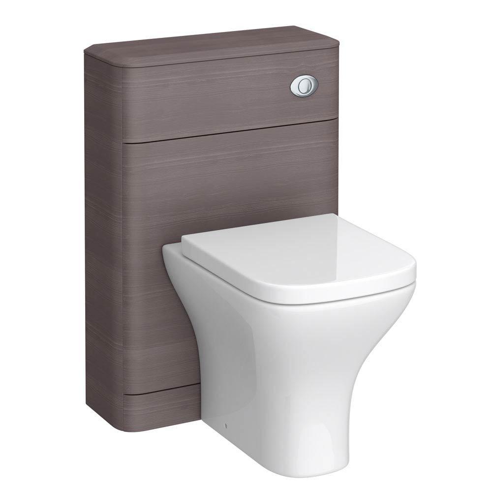 Monza 550mm Wide WC Unit (Stone Grey Woodgrain - Depth 200mm) Large Image