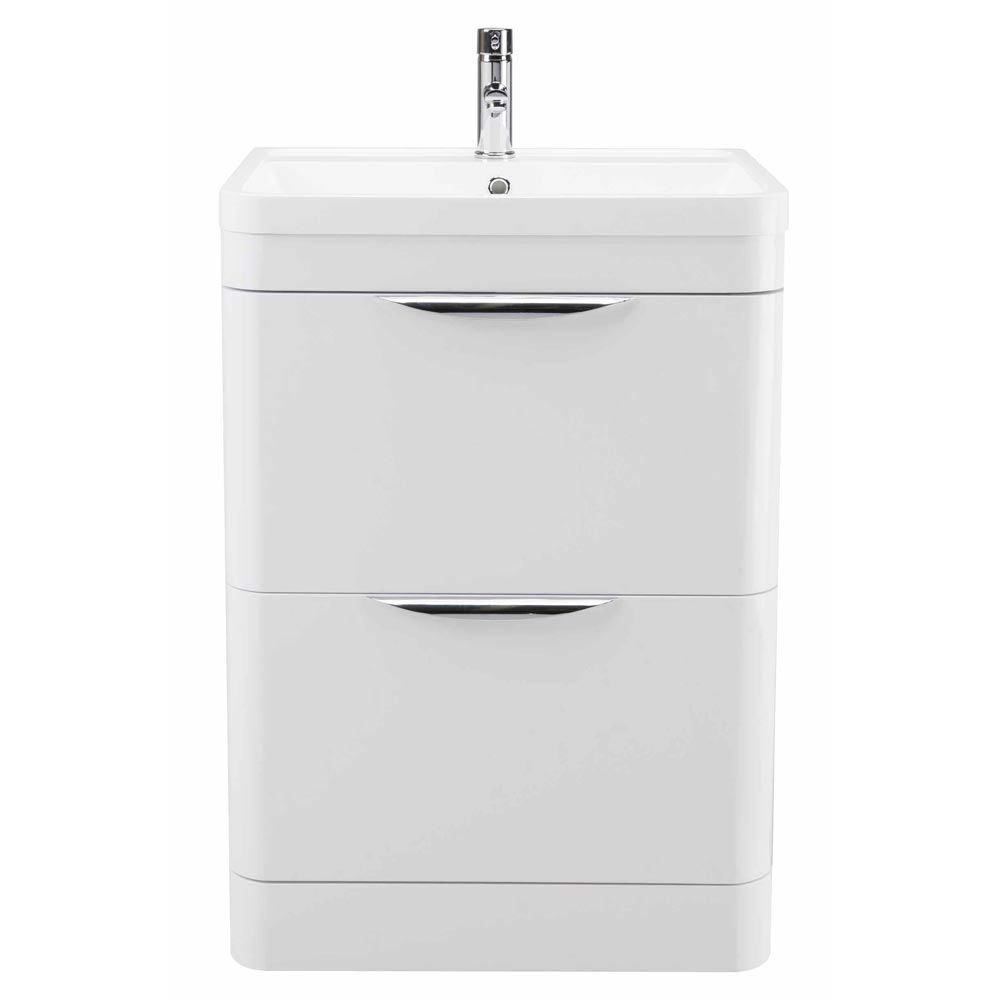 Monza Floor Standing Vanity Unit with Basin W600 x D445mm  Feature Large Image