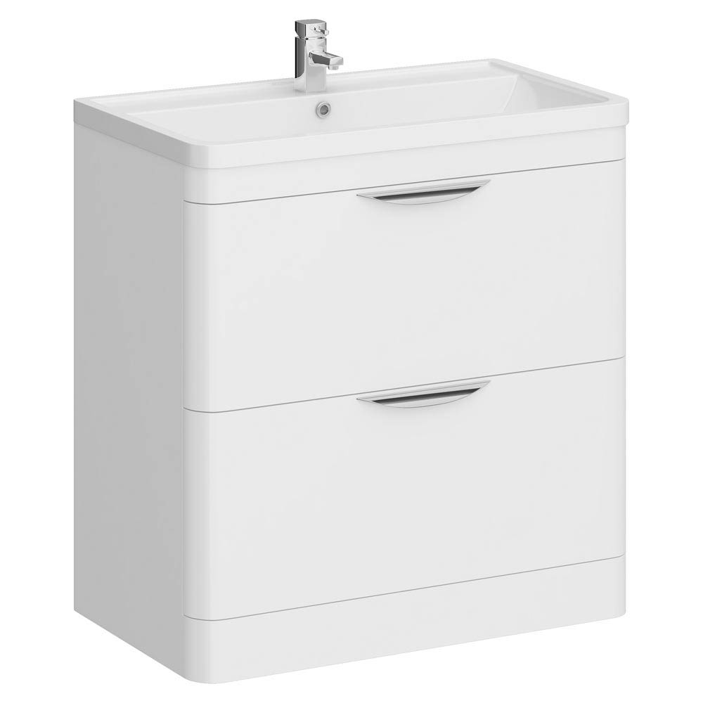 Monza Floor Standing Vanity Unit with Basin W800 x D445mm profile large image view 1
