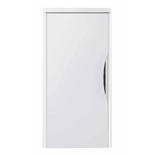 Monza 800 Wall Mounted Vanity Unit Inc. Basin + Side Cabinet - White Gloss profile large image view 4