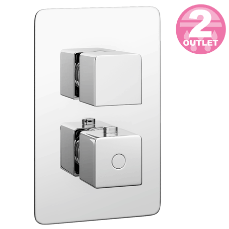 Monza Concealed Twin Shower Valve with Built-In Diverter