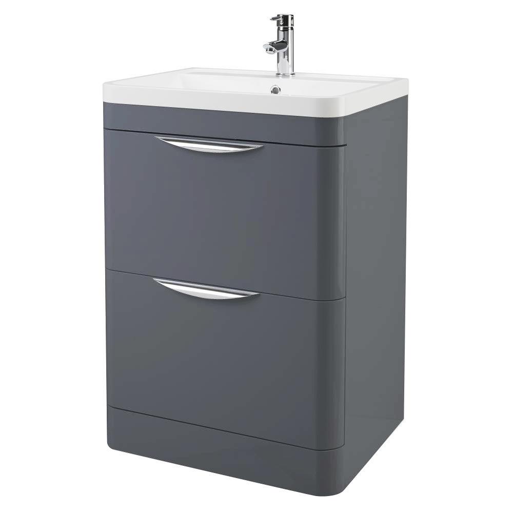 Monza Floor Standing Vanity Unit With Basin W600 X D445mm