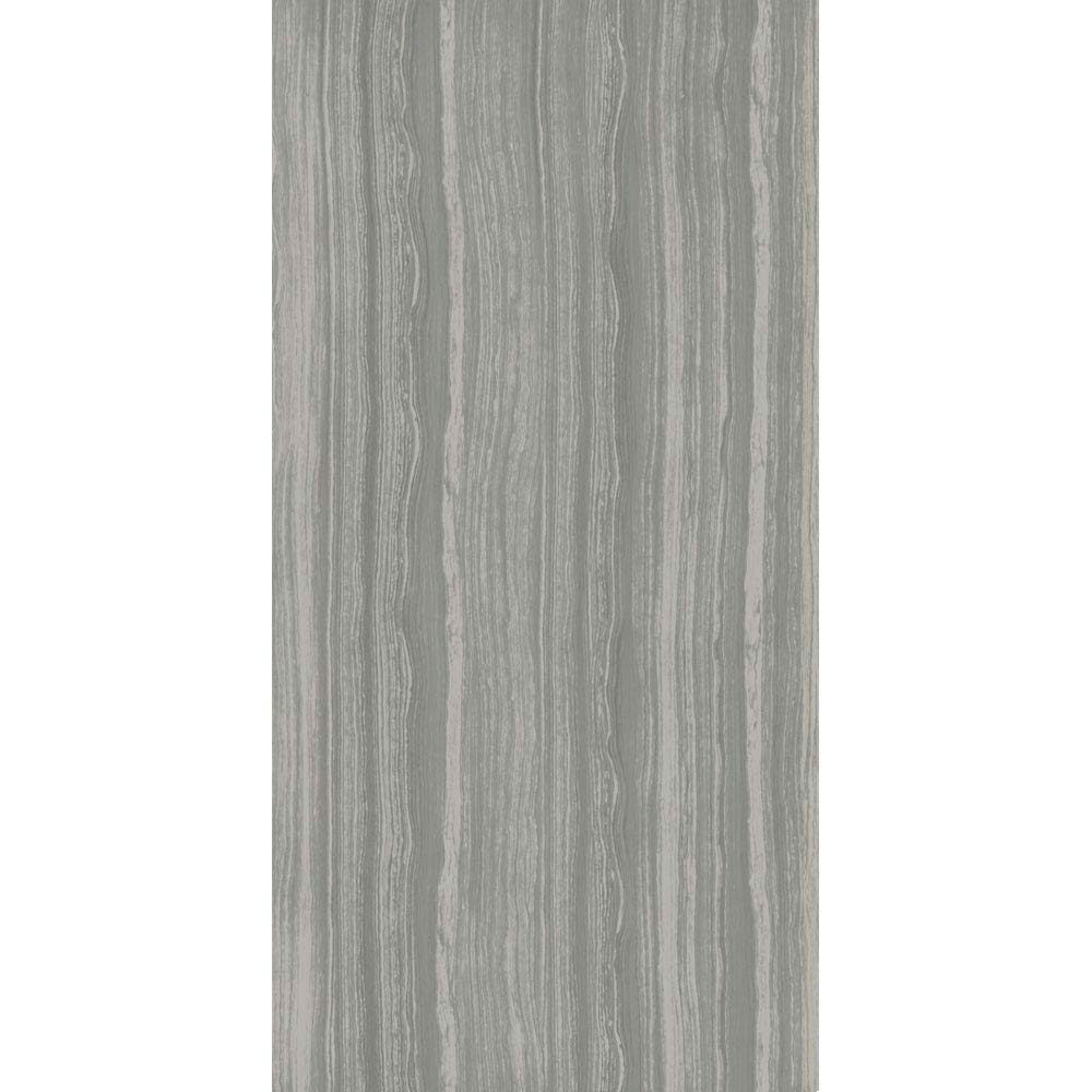 Monza Grey Wood Effect Tile - Wall and Floor - 600 x 300mm  In Bathroom Large Image