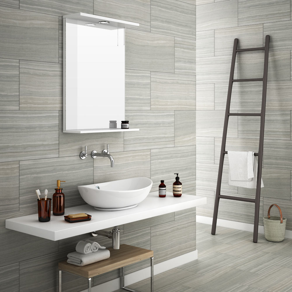 Monza Grey Wood Effect Tile   Wall And Floor   600 X 300mm | 5 Bathroom