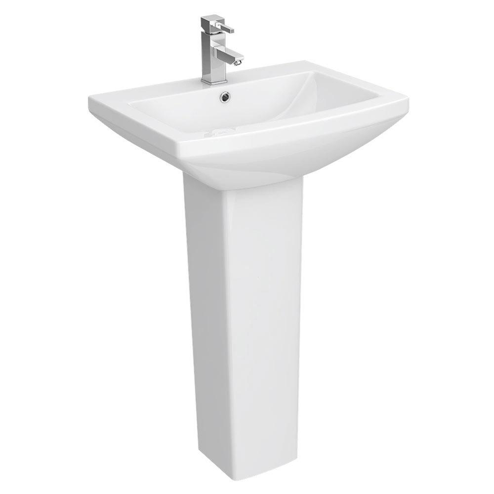 Monza Square 550 1TH Basin + Pedestal