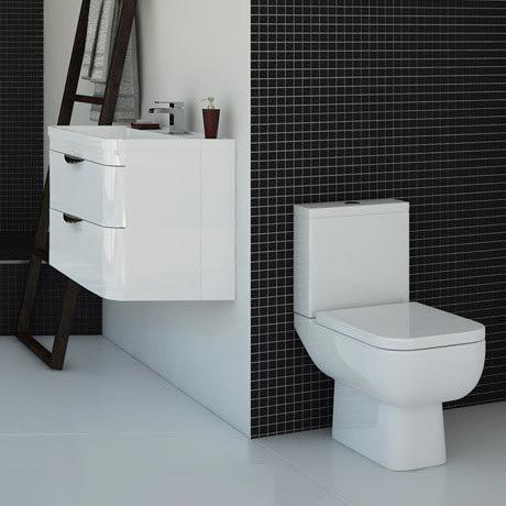 Monza Vanity Unit & Modern Toilet Package