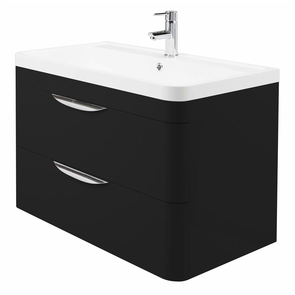 Monza Wall Hung 2 Drawer Vanity Unit With Basin W800 X