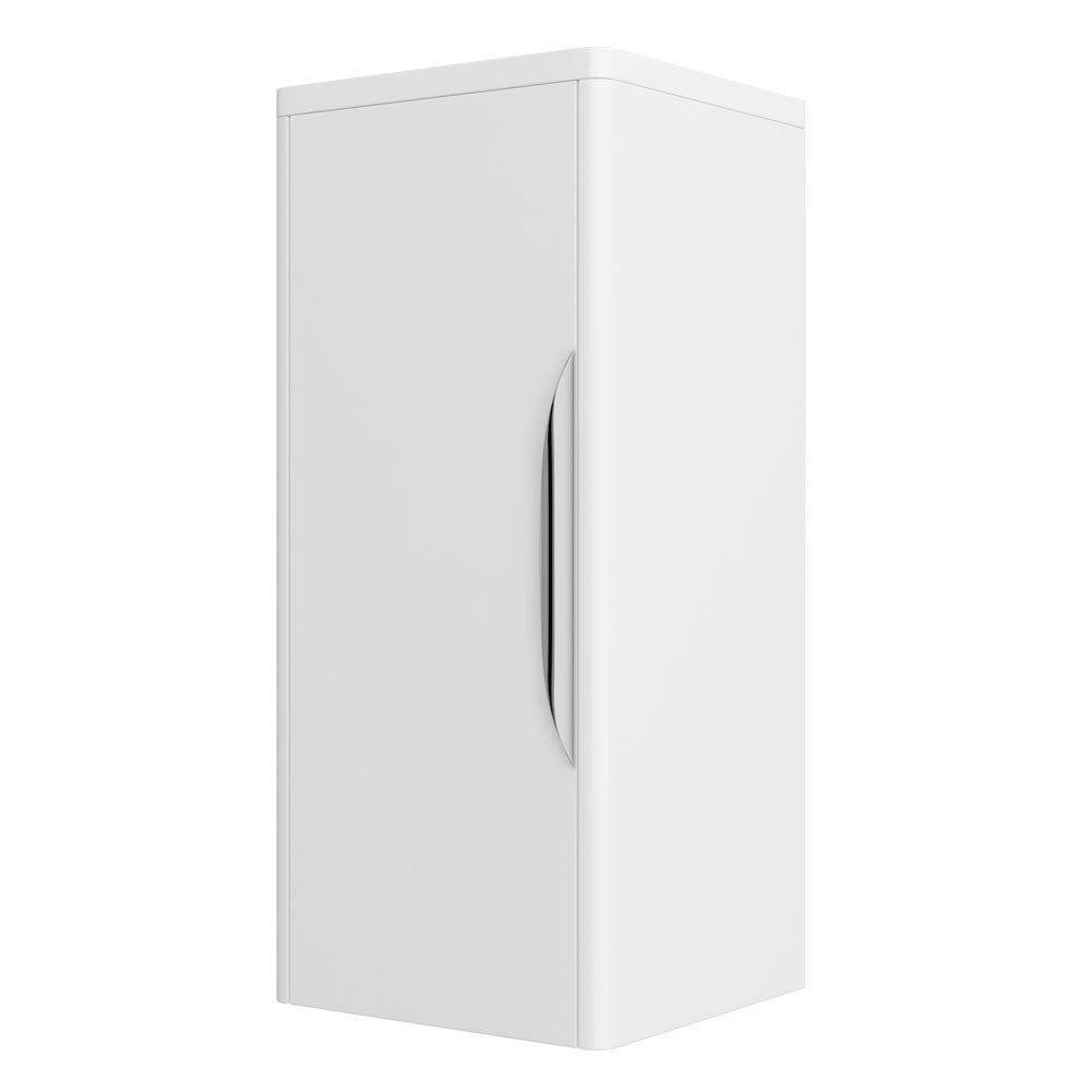 Monza Wall Mounted Medium Cupboard - High Gloss White - W350 x D250mm FPA008 Large Image