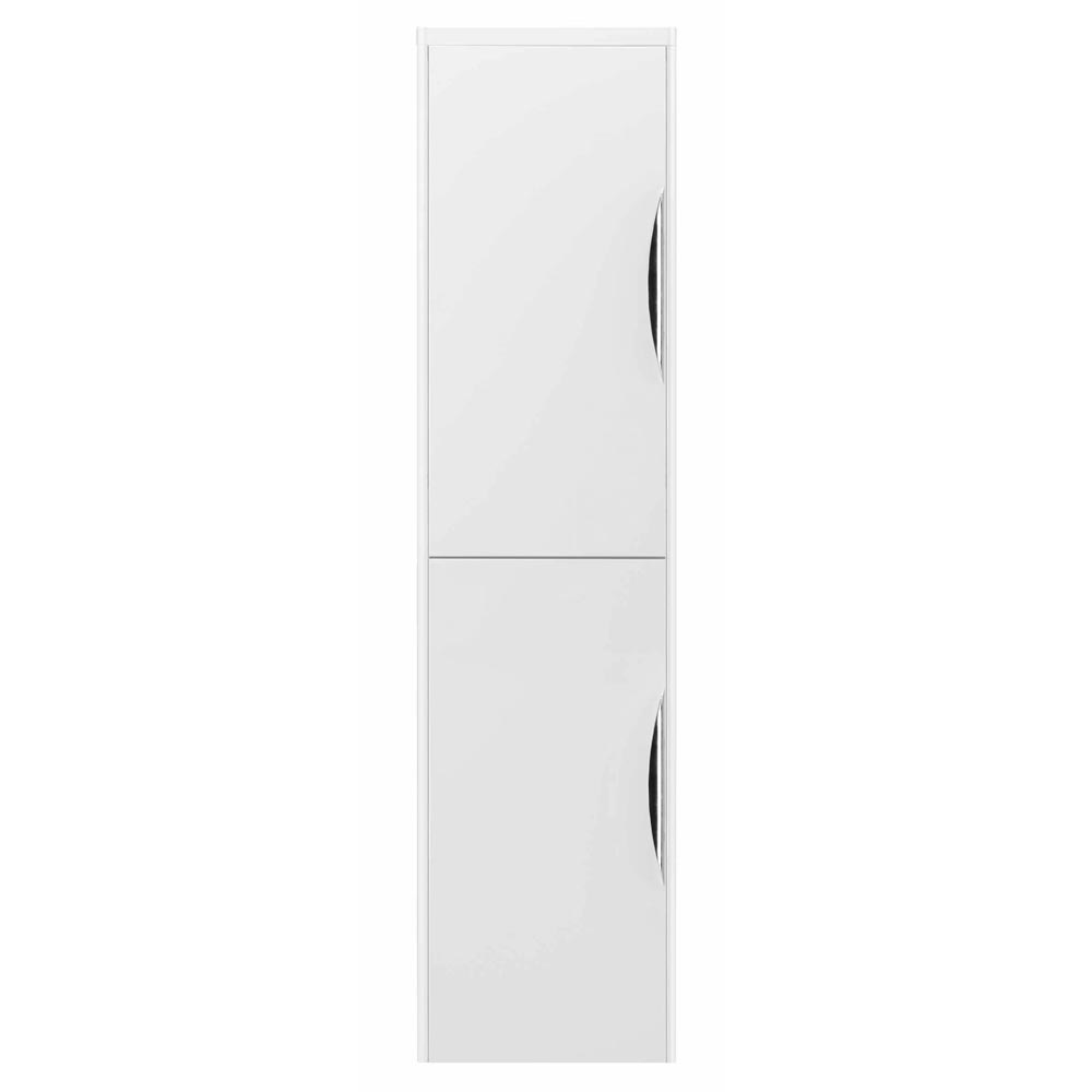 Monza Wall Mounted Tall Cupboard - High Gloss White W350 x D250mm - FPA009 profile large image view 2