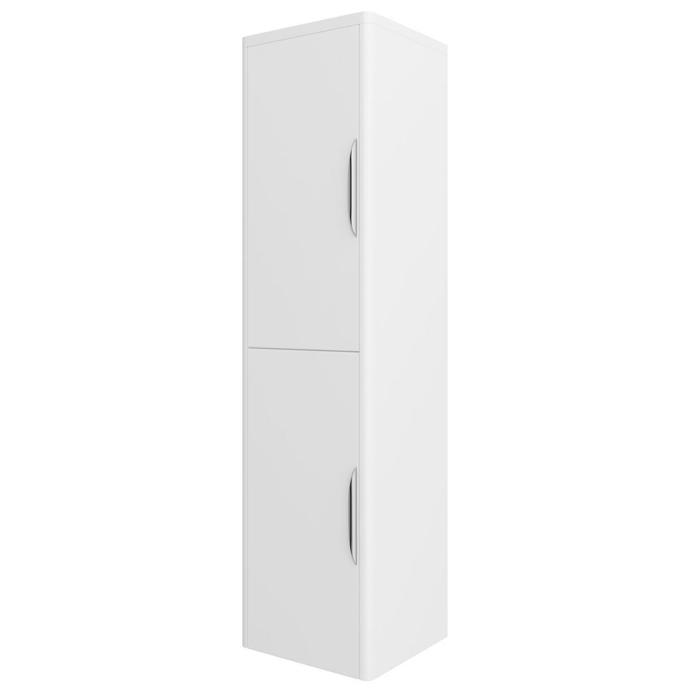 Monza Wall Mounted Tall Cupboard - High Gloss White W350 x D250mm - FPA009 profile large image view 1
