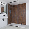 Multipanel Linda Barker Corten Elements Bathroom Wall Panel profile small image view 1