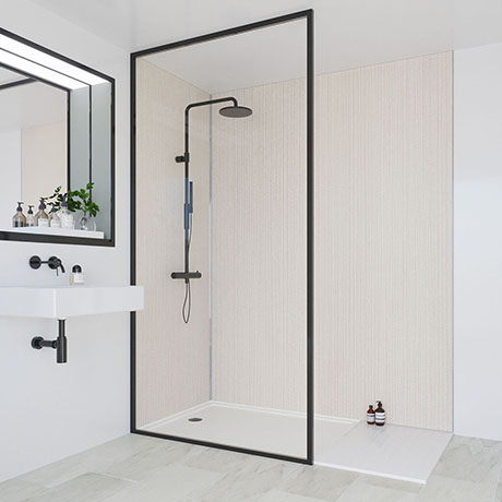 Multipanel Heritage Neutral Twill Plex Bathroom Wall Panel