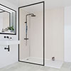 Multipanel Heritage Neutral Twill Plex Bathroom Wall Panel profile small image view 1