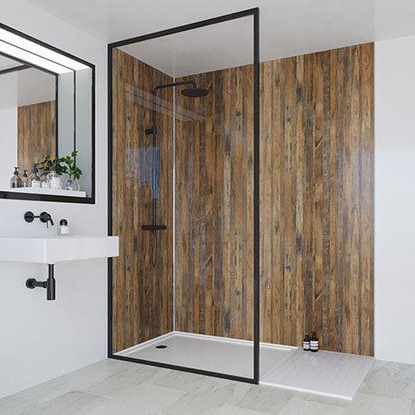 Multipanel Linda Barker Salvaged Plank Elm Bathroom Wall Panel