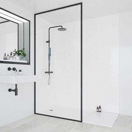Multipanel Classic White Snow Bathroom Wall Panel