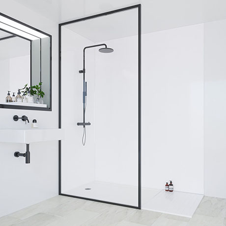 Multipanel Classic White Bathroom Wall Panel