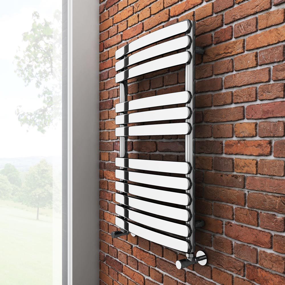 Murano Heated Towel Rail H800mm x W490mm Chrome Profile Large Image