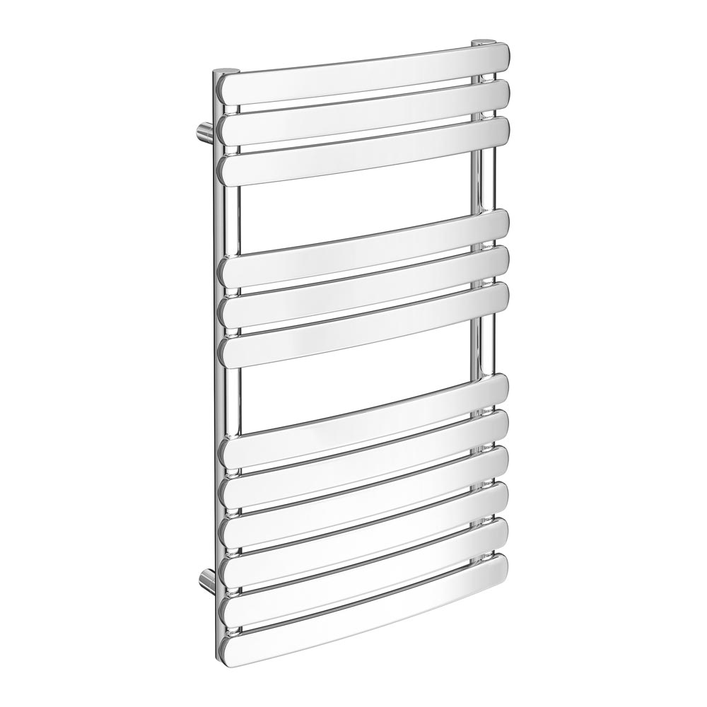 Murano Curved H800mm x W490mm Heated Towel Rail - Chrome