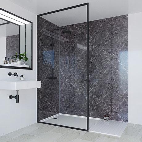 Multipanel Linda Barker Ferro Grafite Bathroom Wall Panel