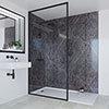 Multipanel Linda Barker Ferro Grafite Bathroom Wall Panel profile small image view 1