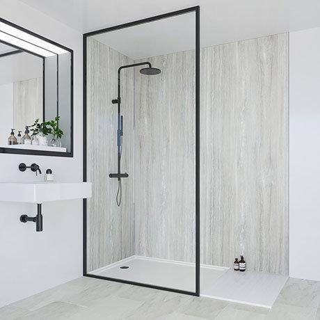 Multipanel Classic Jupiter Silver Bathroom Wall Panel