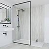 Multipanel Classic Jupiter Silver Bathroom Wall Panel profile small image view 1