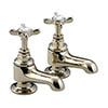 Bristan 1901 Traditional Bath Pillar Taps - Gold Plated - N-3/4-G-CD profile small image view 1