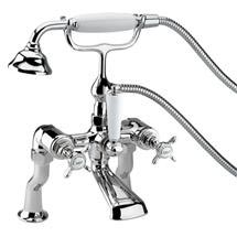 Bristan 1901 Luxury Pillar Bath Shower Mixer - Chrome Plated - N-LBSM-C Medium Image