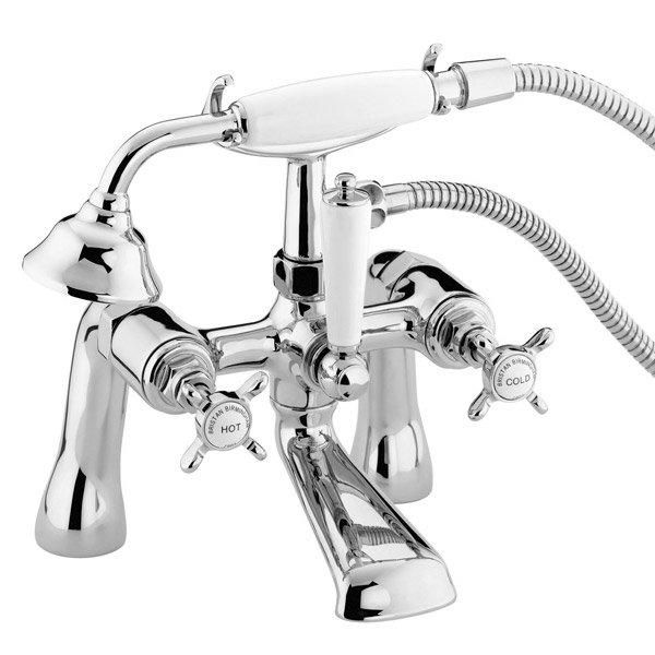 Bristan 1901 Pillar Bath Shower Mixer - Chrome Plated - N-BSM-C-CD profile large image view 1