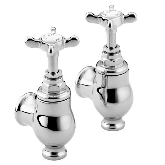 Bristan 1901 Traditional Globe Bath Taps - Chrome Plated - N-GLO-C-CD Large Image