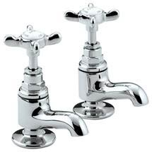 Bristan 1901 Traditional Vanity Basin Taps - Chrome Plated - N-VAN-C-CD Medium Image
