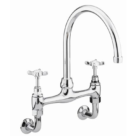Bristan - 1901 Wall Mounted Bridge Kitchen Sink Mixer - N-WMDSM-C