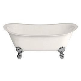 Burlington Medici Batello 1690 Grande Bath with Chrome Feet
