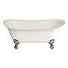 Burlington Medici Batello 1690 Grande Bath with Chrome Feet profile small image view 1