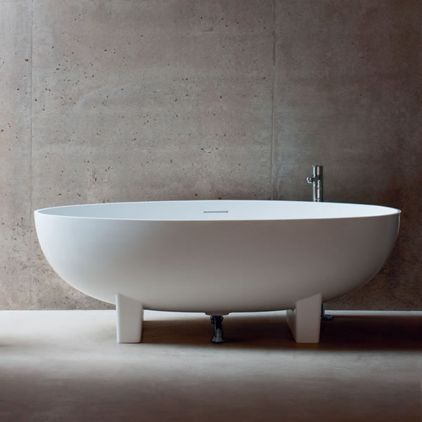 Clearwater - Lacrima Natural Stone Bath - 1690 x 800mm - N12 profile large image view 4