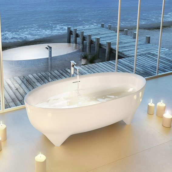Clearwater - Vigore Natural Stone Bath - 1700 x 750mm - N17 Profile Large Image
