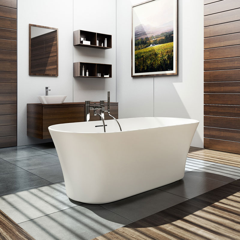 Clearwater - Armonia Natural Stone Bath - 1550 x 750mm - N18 Large Image