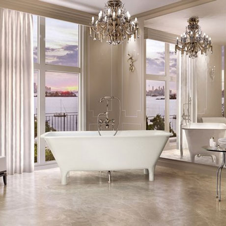 Clearwater - Lonio Natural Stone Bath - 1700 x 750mm - N19 profile large image view 2