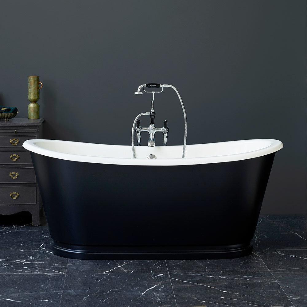 Burlington Balthazar 1675 Black Double Ended Bath