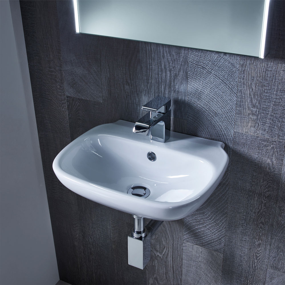 Roper Rhodes Note 450mm Wall Mounted or Countertop Basin - N45SB profile large image view 2