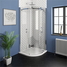 Nova Frameless 900 x 900mm Single Door Quadrant Shower Enclosure