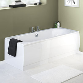 Nuie White Acrylic Front Bath Panel - 4 Size Options