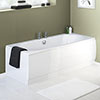 Nuie White Acrylic Front Bath Panel - 4 Size Options profile small image view 1