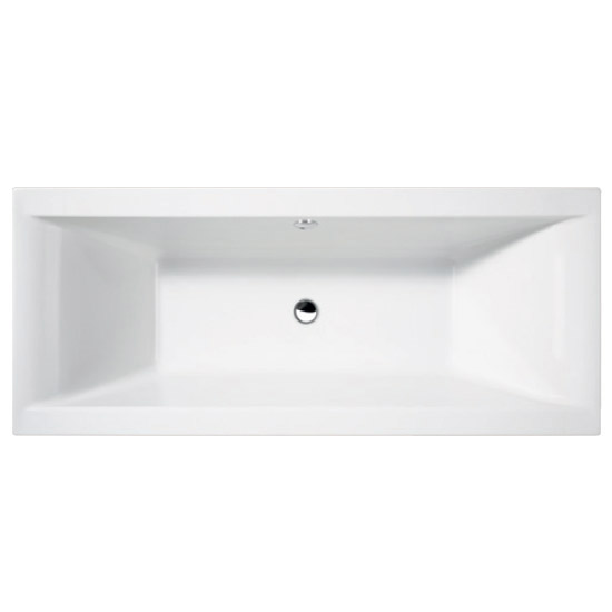 Asselby Square 1700 x 700 Double Ended Bath with Waste + Front Panel profile large image view 2