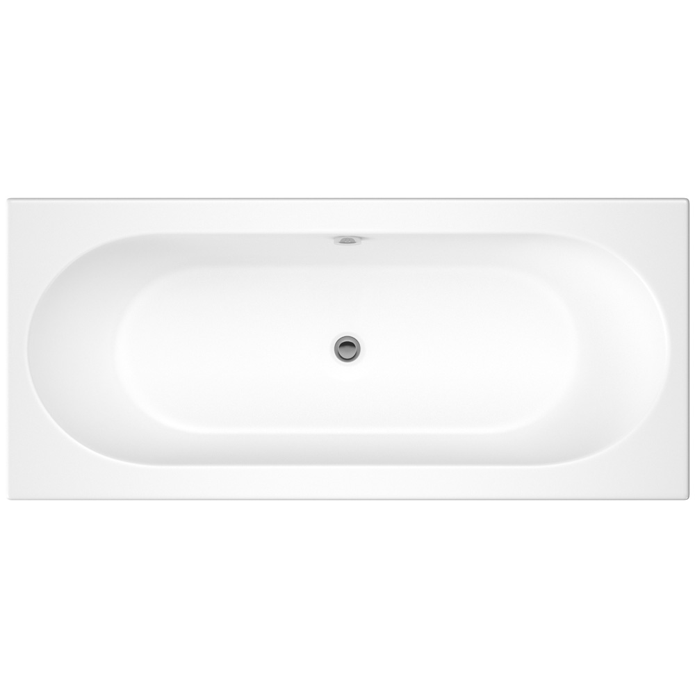 Otley Round Double Ended Acrylic Bath profile large image view 1
