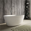 Hudson Reed Grace L1500 x W760mm Round Freestanding Bath - NBB001 profile small image view 1
