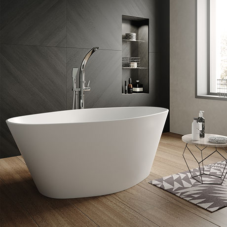 Hudson Reed Rose L1510 x W760mm Oval Freestanding Bath - NBB002