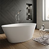 Hudson Reed Rose L1510 x W760mm Oval Freestanding Bath - NBB002 profile small image view 1