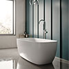 Hudson Reed Bella L1495 x W720mm Square Freestanding Bath - NBB003 profile small image view 1