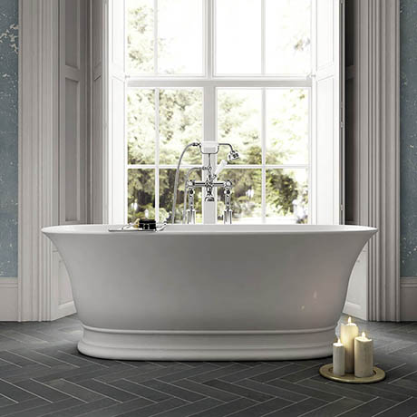 Old London Farringdon L1555 x W740mm Double Ended Freestanding Bath - NBB004